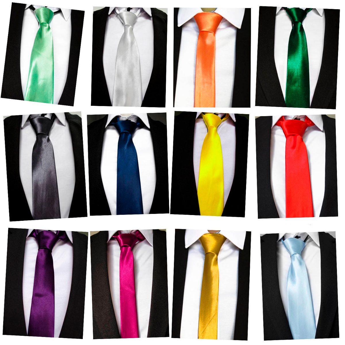 12 Pçs Gravata Amarela Lisa Para Padrinhos - R  120,00 em Mercado Livre 02602fb508