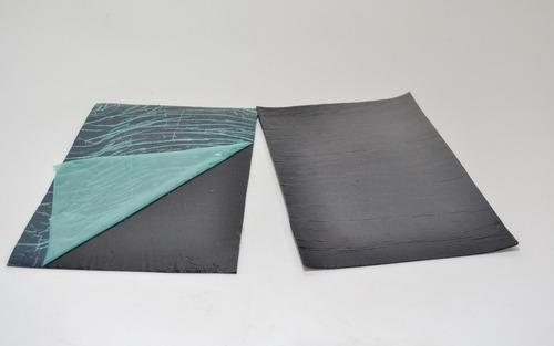 12 pecas de manta asfáltica automotiva auto adesiva 40x60 cm