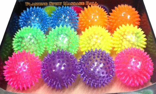 12 pelota suave con luz led, sonido y textura en picos