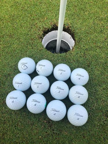 12 pelotas de golf usadas titleist premium