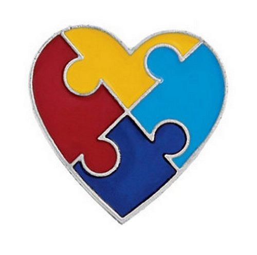 12 pernos corazón la conciencia autismo pedazo rompecabezas