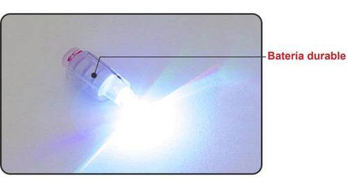 12 piezas globo led luminoso que destellan de colores bombas