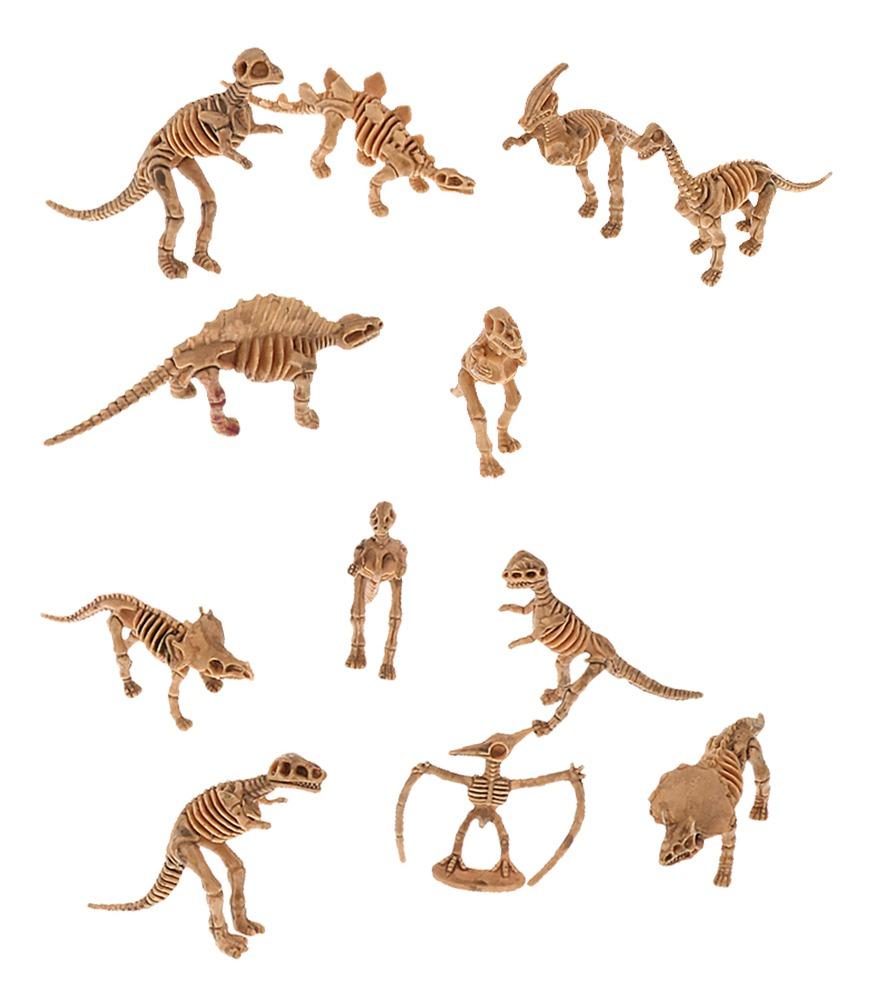 12 Piezas Novedad De Dinosaurios Surtido Figuras Esqueleto