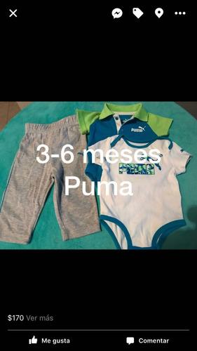 12 piezas ropa para bebé marca puma