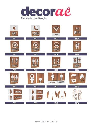 12 placas indicativas sinalização especial sob encomenda