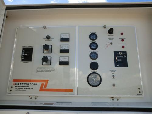 12) planta de luz y emergencia mq power 120 kw 150 kva 2008