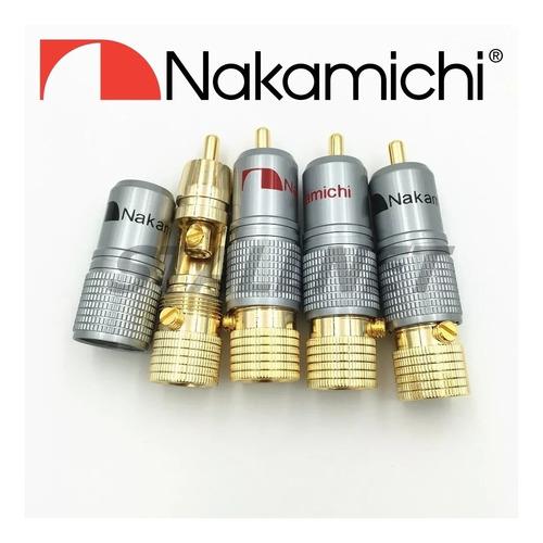 12 plug conector rca nakamichi top made japan pronta entrega