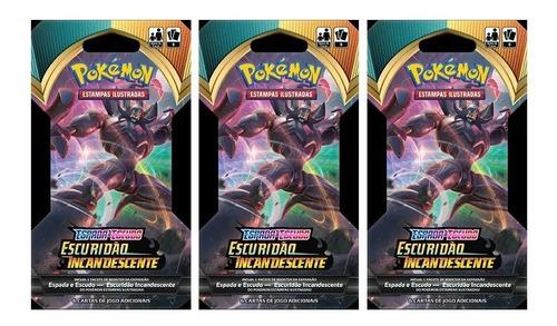 12 pokemon blister unitario ee3 escuridão incandescente