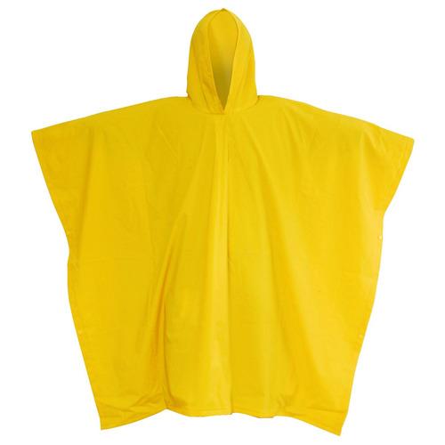 12 ponchos impermeables unitalla amarillo wolfox para lluvia
