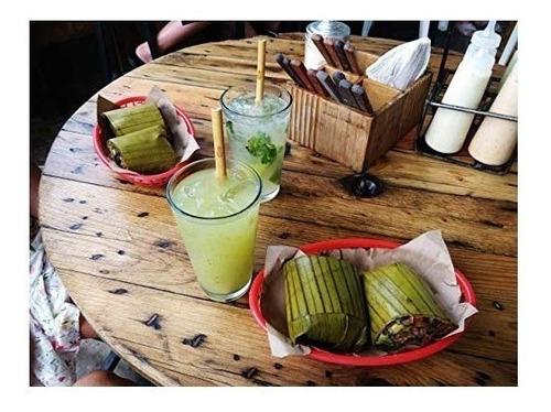 12 popotes ecologicos bambu bamboo reusables reutilizables