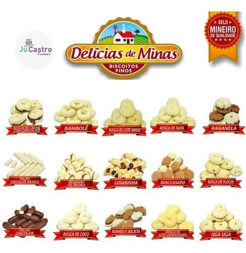 12 potes de biscoitos delícia de minas