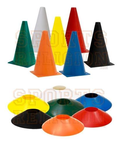 12 pratos agilidade + 12 cones demarcatório ( chapéu chines, bruxa )