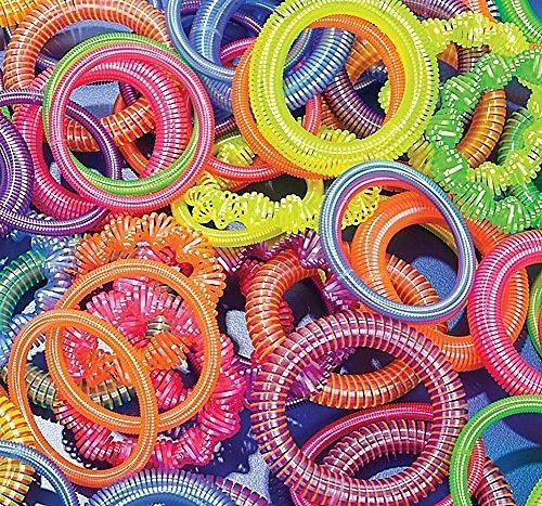 01407581b6b1 12 ~ Pulseras De Plástico De Primavera De Bobina ~ Colores -   1.494 ...