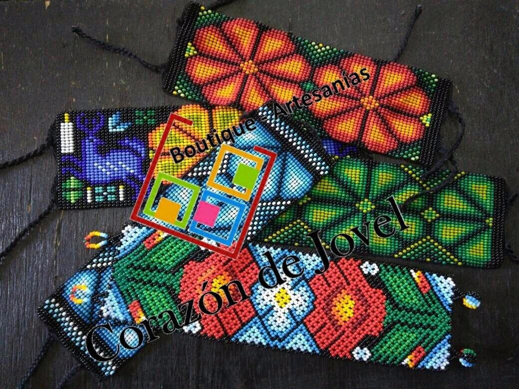 a8c6db7daa30 12 Pulseras Tejidas En Chaquira artesanales De Chiapas!! -   950.00 ...