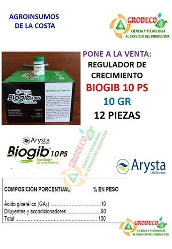 12 pz ácido giberelico regulador crecimiento  biogib 10gr