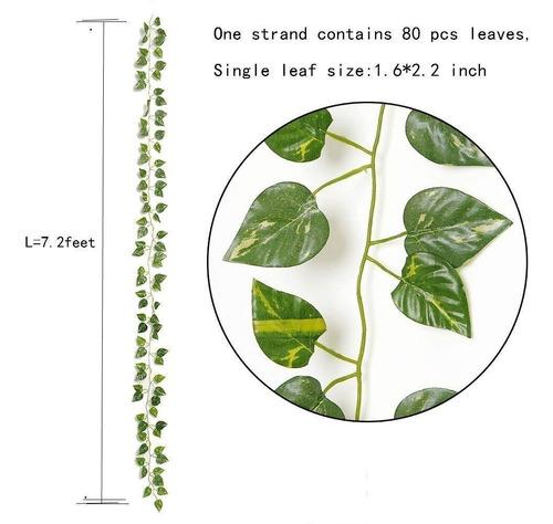 12 pz plantas colgantes artificial hojas de la vid total 26