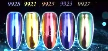 12 pz polvo para u as efecto espejo esmalte gel gelishandrea 1 en mercado libre Polvo espejo unas