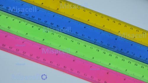 12 reglas flexibles, 30 cm divertidos colores :)