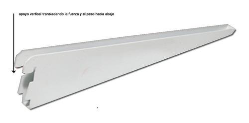 12 riel 2 mts y 48 mensula reforzada de 37 cm color negro