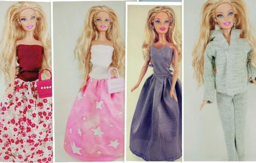 12 roupinhas de boneca barbie ,frozen,similares