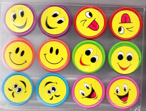 12 sellitos infantiles caritas maestras español ingles emoji