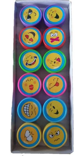 12 sello sellito infantiles frutas emoji souvenir cumpleaños