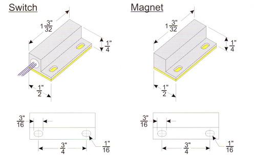 12 sensor magnético com fio alarme porta e janela duplaface