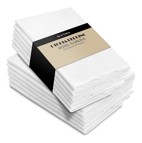 12 servilletas de utopia de tela de alta calidad, 60% algodó