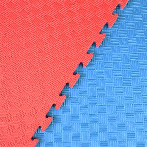 12 tatamis fire sports piso bicolor económico rojo-azul