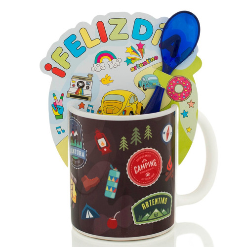 12 taza cerámica jarro café té cuchara regalo original $ 199