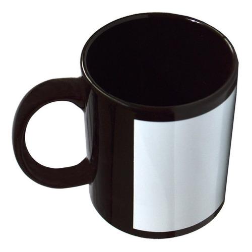 12 taza negra 11 oz con ventana blanca sublimación colormake