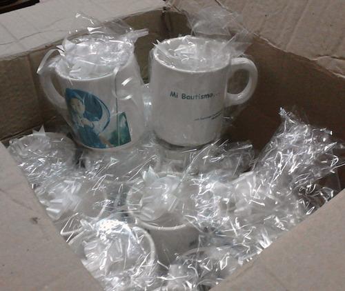 12 tazas con foto y texto porcelana importada personalizadas