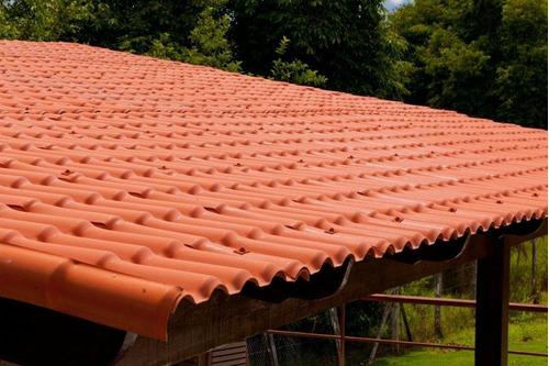 12 - telha pvc colonial ecológica - 4,59m x 0,88m + 7 kit