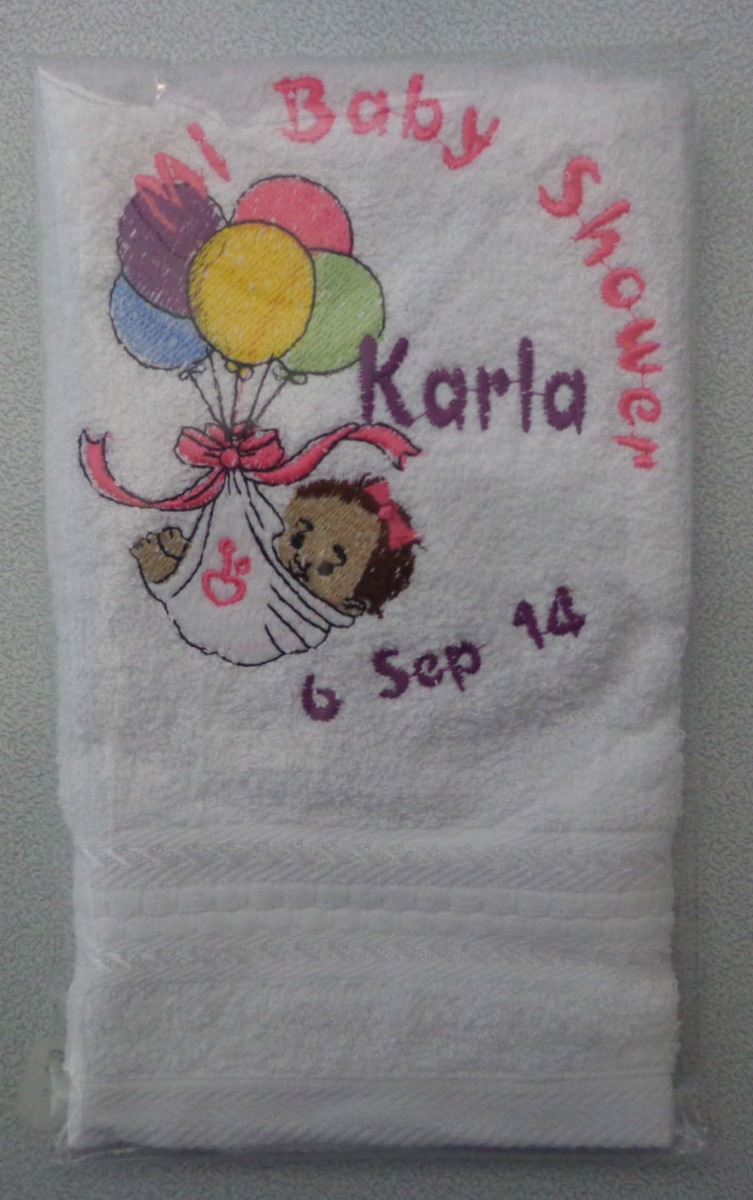 12 toallas de manos bordadas para boda bautizo xv a os for Ganchos para toallas de bano