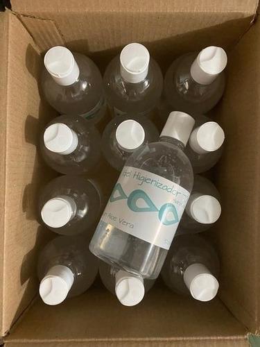 12 unidades álcool gel 70% antisséptico aloe vera 500ml