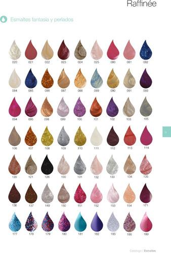 12 unidades de esmaltes raffinée colores a elección