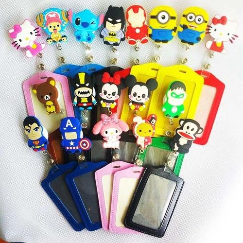 12 unidades porta carnet muñecos super heroes