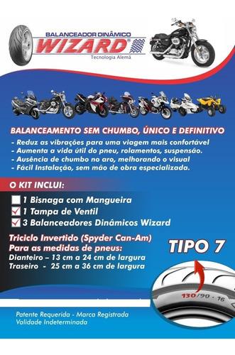 12 unid.balanceamento tipo 7 triciclo d-130/240  t-250/360mm