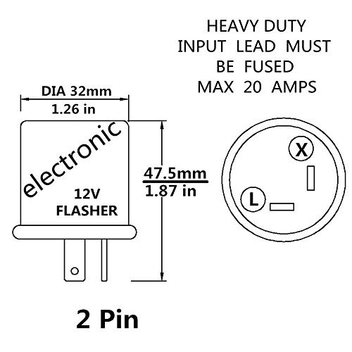 12 v heavy duty 2 pin led compatible electronic flasher fijo