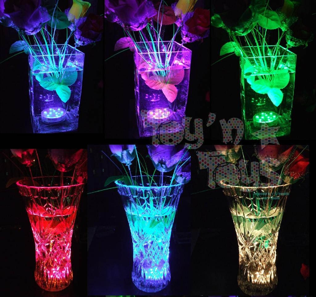 12 Vela Led Sumergible Agua Color Fiesta Decoraci 243 N