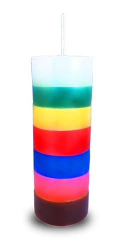 12 velas 7 sete dias colorida votiva 7 sete linhas