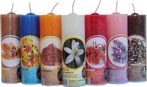 12 velas perfumadas arom ticas votiva 7 dias parafina r 60 65 em mercado livre - Velas perfumadas ...