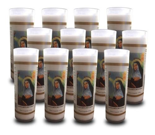 12 velas votivas 7 dias imagem santa rita de cássia