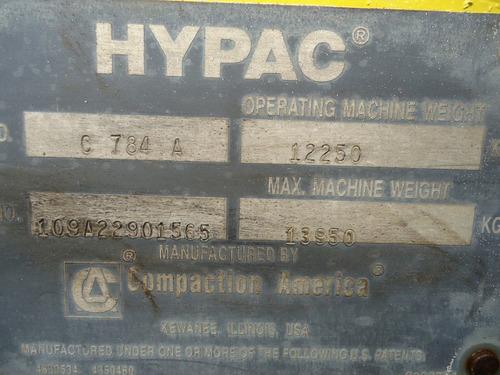 12) vibrocompactador doble tambor hypac c784a 2005 84 in