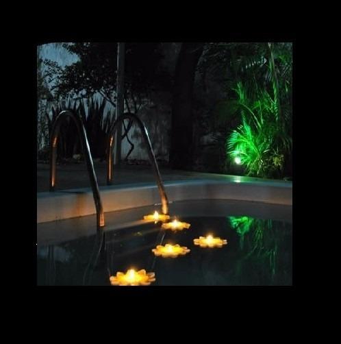 12 vit ria r gia p flutuante vela led piscina prova d 39 agua - Velas para piscinas ...