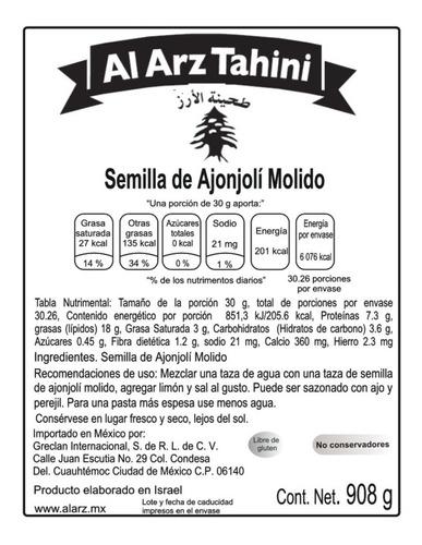 12 x 10 al arz tahini clasico 908 gr superfood caja de 12