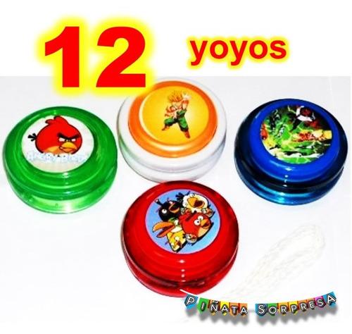 12 yoyo economico juguete piñata cumple bolo premio fiesta