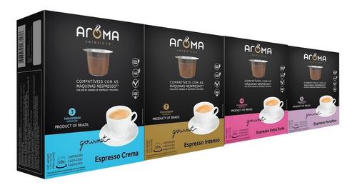 120 cápsulas para nespresso | café | cápsula aroma.