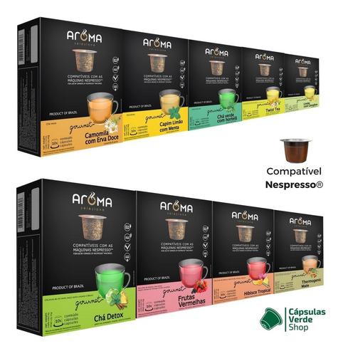 120 cápsulas para nespresso | café & chá | cápsula aroma