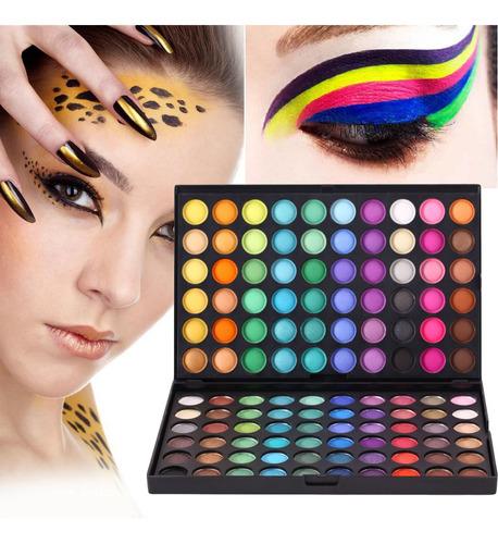 120 colores corrector paleta de maquillaje set brillo mate s